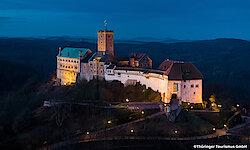 Eisenach Wartburg bei Nacht