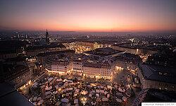 Dresden Weihnachtsmarkt auf dem Neumarkt