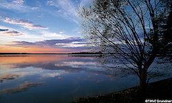 Mecklenburgische Seenplatte Krakower See am Abend